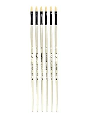 Robert Simmons Simply Simmons Long Handle Brushes, 2 Bristle Flat, Pack of 6 (PK6-255144002)