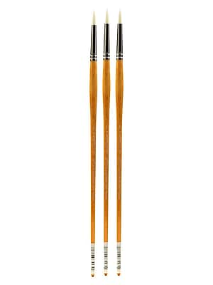 Grumbacher Bristlette Oil and Acrylic Brushes, 4 Round, Pack of 3 (PK3-4720R.4)