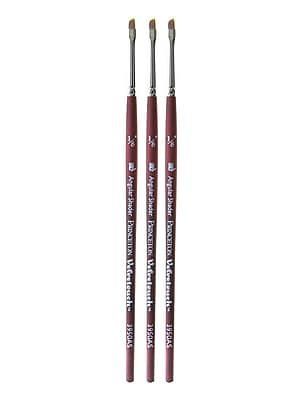 Princeton Velvetouch Mixed Media Brushes, 012 Angular Shader, Pack of 3 (PK3-3950AS-012)