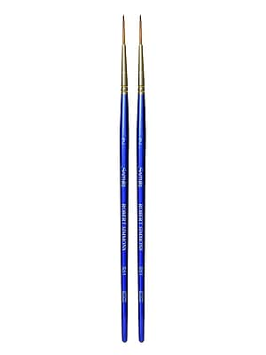 Robert Simmons Sapphire Series Synthetic Brushes, Short Handle 2 Liner S51, Pack of 2 (PK2-215051002)