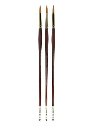 Grumbacher Goldenedge Oil and Acrylic Brushes, 4 Round, Pack of 3 (PK3-630R4G)