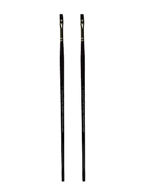 Winsor and Newton Galeria Long Handled Brushes, 4 Flat/Bright, Pack of 2 (PK2-5731004)