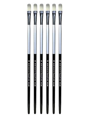 Dynasty Black Silver Filbert Long Handle 12, Pack of 6 (PK6-32863)