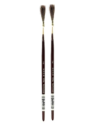 Andrew Mack Series 179L Brown Quill Brush 3, Pack of 2 (PK2-179L-3)
