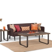 Simpli Home Peyton 48 x 24 inch Coffee Table in Distressed Java Brown Wood Inlay (AXCPYT-01)