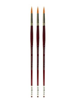 Grumbacher Goldenedge Oil and Acrylic Brushes, 5 Round, Pack of 3 (PK3-630R5G)