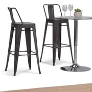 Simpli Home Rayne 30 inch Metal Bar Stool in Grey (Set of 2) (AXCRAY30-01-SL)