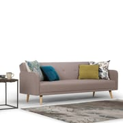 Simpli Home Courtney Linen Look Sleeper Sofa Bed in Mocha (AXCSOF-01-MH)