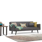 Simpli Home Morgan Linen Look Sofa Bed in Graphite Grey (AXCSOF-04-GG)