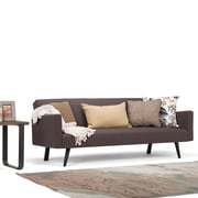 Simpli Home Morgan Linen Look Sofa Bed in Smoke Grey (AXCSOF-04-SMG)