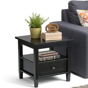 Simpli Home Warm Shaker 20 inch End Side Table in Black (AXWSH002-BL)