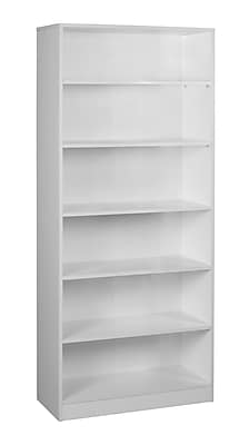 "Regency Seating Niche Mod 4 Shelf 71""H Bookcase, White Wood Grain (NBC7130WH)"