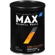 Maxwell House Max Boost Medium Roast Coffee 1.50x More Caffeine,  13.5oz (GEN07551)
