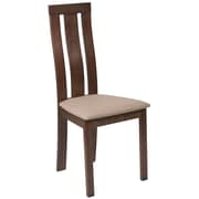 Flash Furniture Polyester Dining Chair Walnut (ESCB3932YBHWCR)