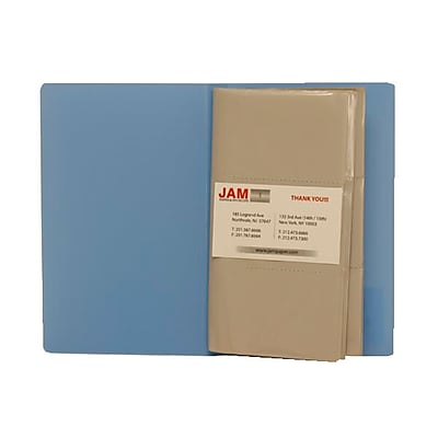 JAM Paper® Business Card Book, Holds 120 Cards, Baby Blue, Sold Individually (21114742)