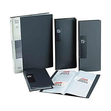 JAM Paper® Business Card Book, Holds 600 Cards, Black, Sold Individually (2113688)