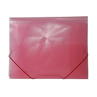 JAM Paper® Action Case/ Plastic Portfolio, Letter Booklet, 9-1/2