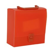 "JAM Paper® Portfolio Art Case with Handles, 7"" x 7"" x 3"", Orange, Sold Individually (7976072)"
