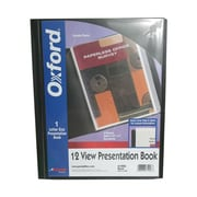 "JAM Paper® Display Book, 6 Pages, 12 Sleeves, 8.5"" x 11"", Black, Sold Individually (61226)"