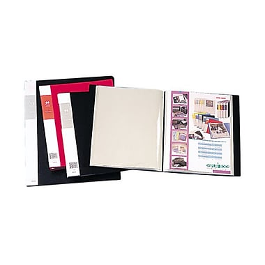 JAM Paper® Display Book, 14 x 17, Black, 24 Pages Per Book, Sold Individually (2133696)