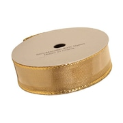 JAM Paper® Wire Edged Ribbon, 1 x 3 yards, Gold, Sold Individually (2210216378)