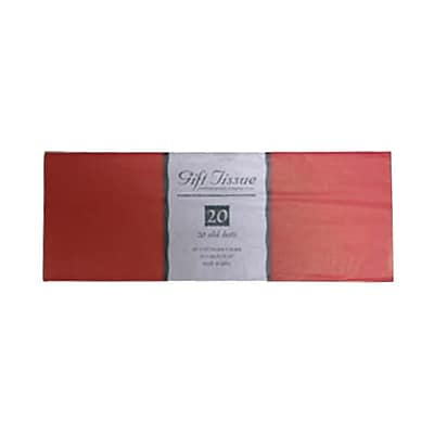 JAM Paper Tissue Paper, Red, 20 Sheets/Pack