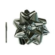 "JAM Paper® Gift Bows, Mega, 13"" Diameter, Silver, Sold Individually (2167013383)"