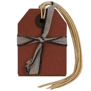 JAM Paper® Recycled Kraft Gift Tags with Twine String, Small, 2 1.4 x 1 5/8, Red, 6/Pack (297534246)