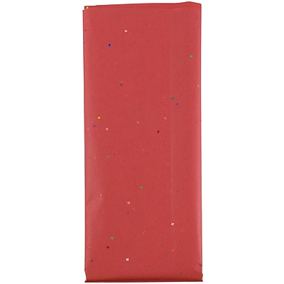 JAM Paper Holiday Tissue Paper, Confetti Red,