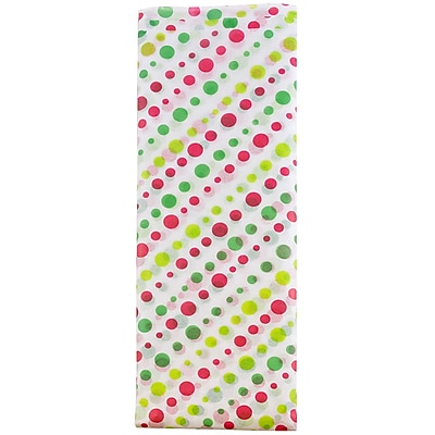 JAM Paper® Holiday Tissue Paper, Jolly Polka Dots, 8/Pack (11834077)