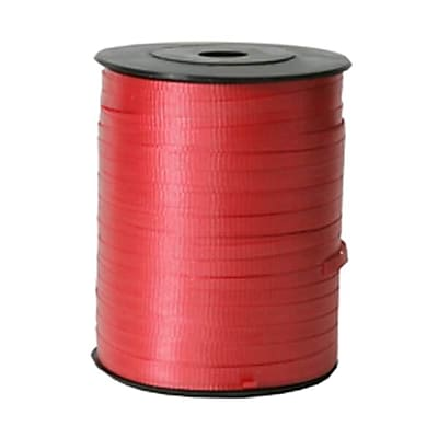 JAM Paper® Curling Ribbon, Red, 250 yards per Spool, Sold Individually (1072810)