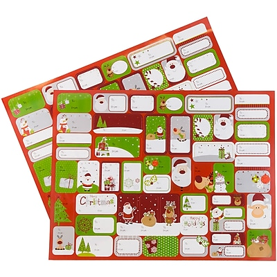 JAM Paper To/From Stickers, Gifts From Santa,