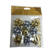 "JAM Paper® Gift Bows, Super Tiny, 1"" Diameter, Gold & Silver, 9/Pack (BW929SGO)"