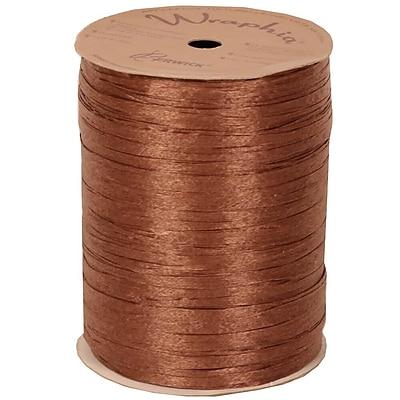 JAM Paper Wraphia Ribbon, Copper, 100 yards,