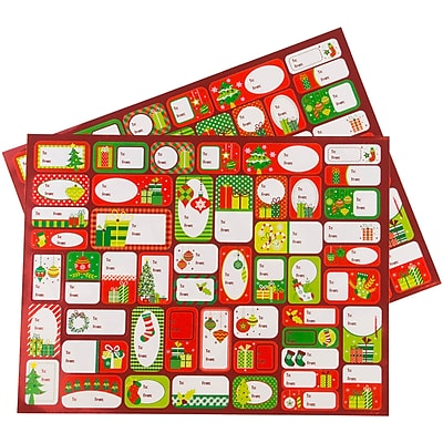 JAM Paper To/From Stickers, Under The Tree,