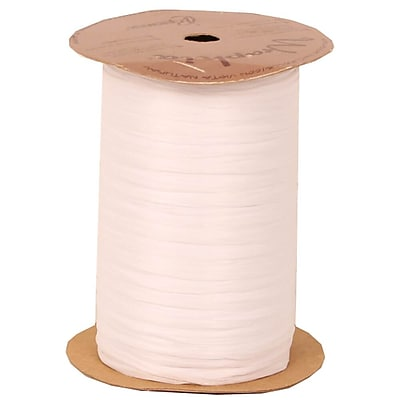 JAM Paper Wraphia Ribbon, White, 100 yards,