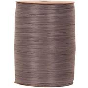 JAM Paper® Wraphia Ribbon, Dark Grey Charcoal, 100 yards, Sold Individually (210814884)