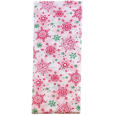 JAM Paper® Holiday Tissue Paper, Merry Snowflakes, 8/Pack (11834071)