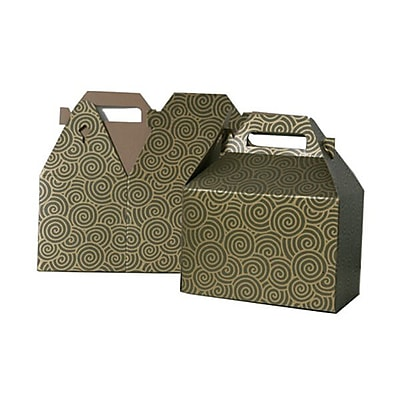 JAM Paper® Gable Gift Box with Handle, Medium, 4