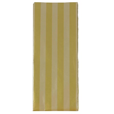 JAM Paper® Tissue Paper, Gold & Silver Stripes, 3 Sheets/Pack (273316467)