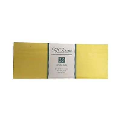 JAM Paper® Tissue Paper, Yellow, 20 Sheets/Pack (1157009)