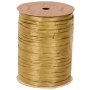 JAM Paper® Wraphia Ribbon, Gold, 100 yards, Sold Individually (1082782)