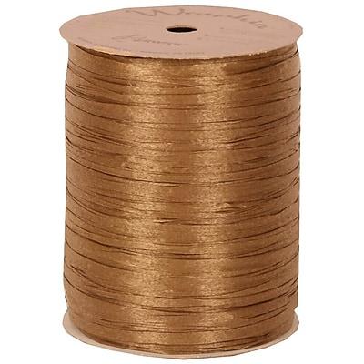 JAM Paper® Wraphia Ribbon, Kraft, 100 yards, Sold Individually (1082785)