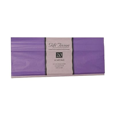 JAM Paper® Tissue Paper, Light Purple, 20 Sheets/Pack (1157007)