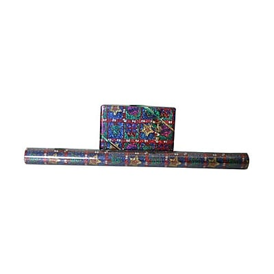 JAM Paper® Christmas Wrapping Paper Rolls, 20 Sq. Ft., Christmas Designs Glitter Color, Sold Individually (7786281)