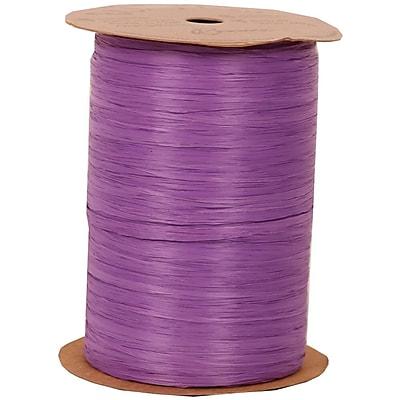 JAM Paper Wraphia Ribbon, Purple, 100 yards,