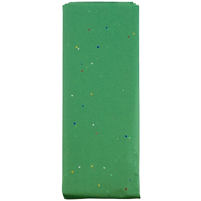 JAM Paper® Holiday Tissue Paper, Confetti Green, 8/Pack (11834076)