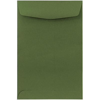 "JAM Paper® 6"" x 9"" Open End Catalog Envelopes, Olive, 50/Pack (31287526fi)"
