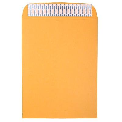 JAM Paper® Brown Kraft Envelopes w/ Peel & Seal Closure, 10