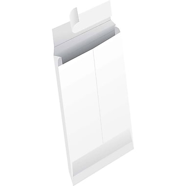 JAM Paper® White Tyvek® Envelopes w/ Peel & Seal Closure, 5 x 12 x 3, 250/Pack (376634175b)